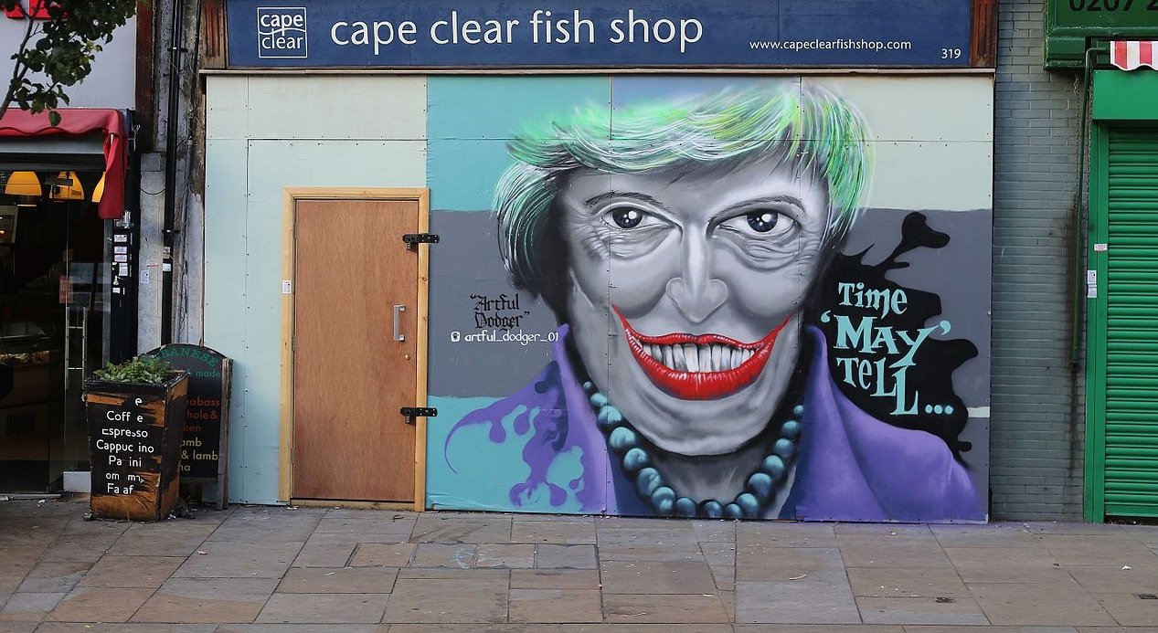 Graffiti in Londen: 'Time May tell'
