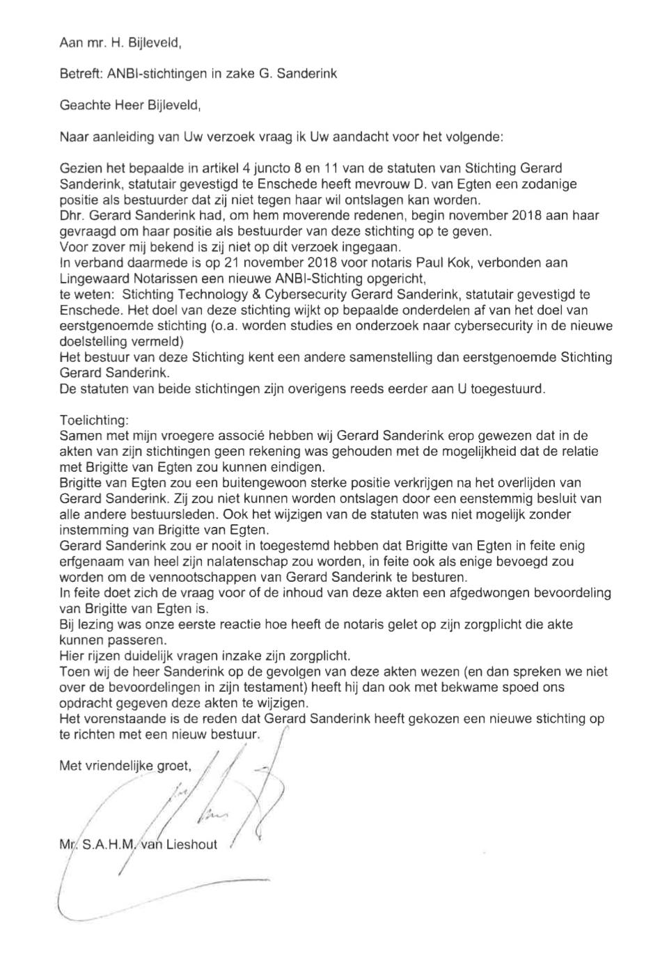 ondertekening en dating een brief
