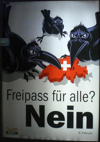 Campagne poster tegen immigratie