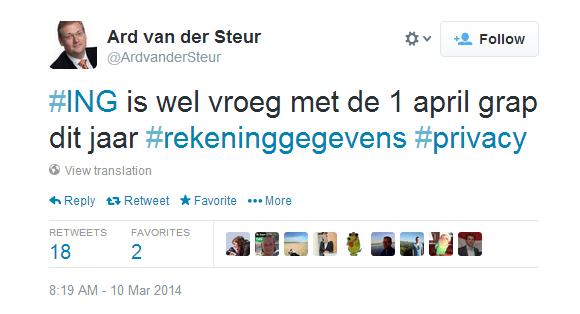 Tweet Van der Steur