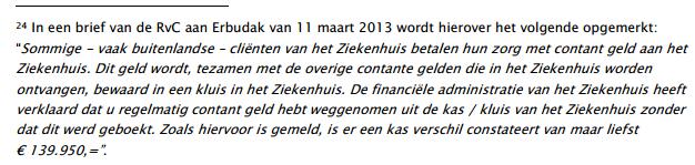 Noot in rapport Van Andel over Meromi en Jeemer