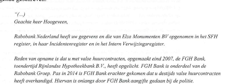 Rabobank weet wel raad met lastige klant het for Zakelijke hypotheek