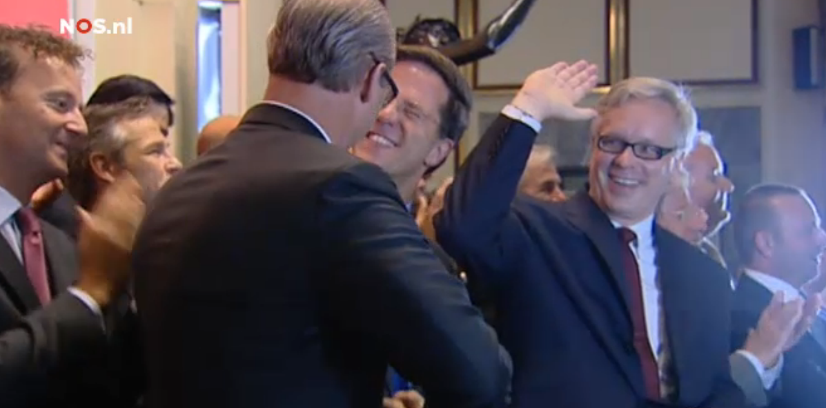 Jan bennink Mark rutte Joop Wijn Michel Cup