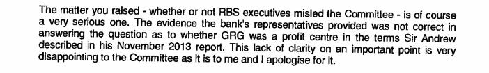 Excuses van topman RBS aan parlement