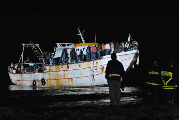 Nachtelijke landing op Lampedusa