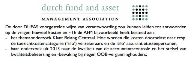 Brief Dufas aan AFM, september 2014