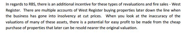 Rapport Tomlinson over de opkoop-BV van RBS, West Register