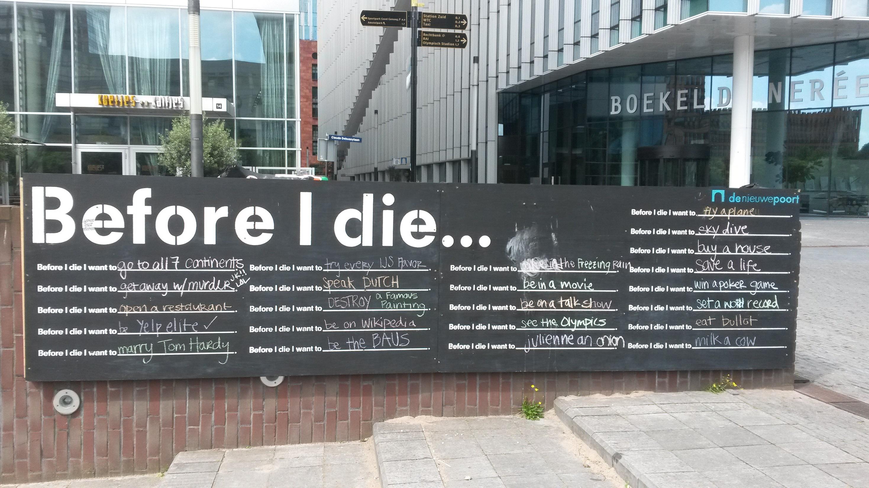 Zuidas Before I Die 2