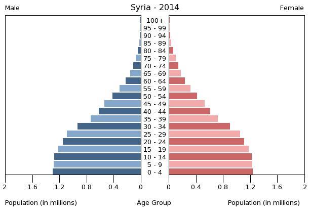 bevolkingspiramide syrie